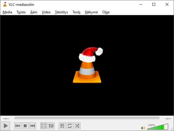 Windows 10 ja vlc mediasoitin.